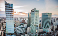 The financial district of Warsaw