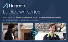Unquote Lockdown series episode 3 with Annachiara Marcandalli of Cambridge Associates