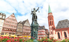 Frankfurt square in Germany